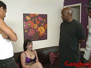 Nasty Jennifer White DP and cum swallow