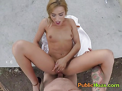 Freaky Chick Cherry Kiss Enjoys Fucking In Public