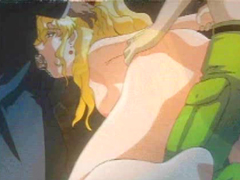 Blonde hentai hard gangbang in the cave