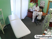 Blonde nurse fucking with fraud doctor