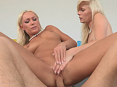 Elaina Raye and Diana Doll crazy 3some in the bedroom