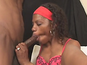 One armed ebony babe takes long dong from behind