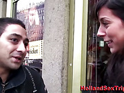 Real dutch prostitute finger blowjob