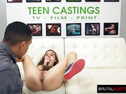 Teen gets bound in Her first Audition