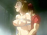 Bondage Japanese hentai gets punish her wetpussy with bigdick