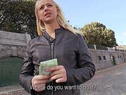 Cute Eurobabe Monika banged in public