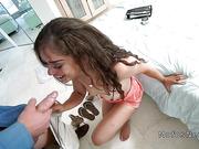 Nasty spinner bangs friends dad huge dick