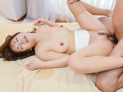 Curvy ass angel, Yui Oba, delights with cock the hard way