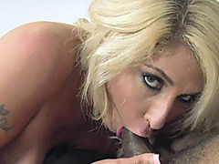 Busty blonde Kelli Staxxx gets fucked with a black cock