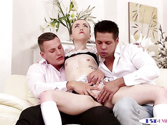 Anally plowed stud drills petite eurobabe