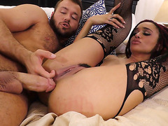 Ebony Julie Kay Does Anal With Big Dick