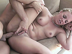 Blonde coed Kirra Lynne is getting her young pussy pounded