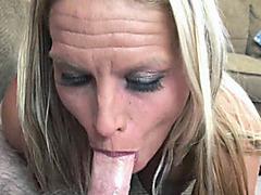 Blonde MILF Skylar Rae is blowing a guy she just met