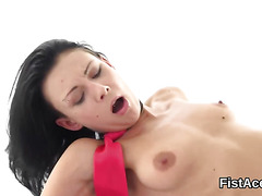 Hardcore lesbo hoe gets pussy deep fisted