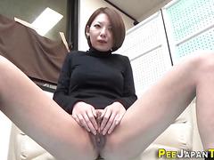 Japanese ho pees on floor